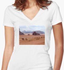 Wadi Rum, Jordan Women's Fitted V-Neck T-Shirt