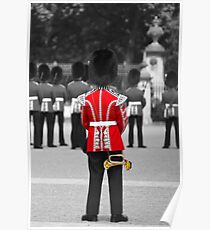 Red Jacket and Bugle Poster