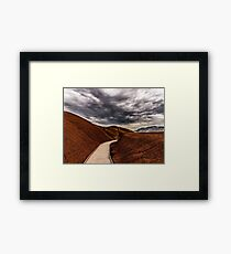 Walking the Red Hill Framed Print