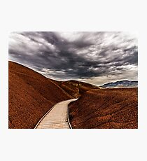 Walking the Red Hill Photographic Print