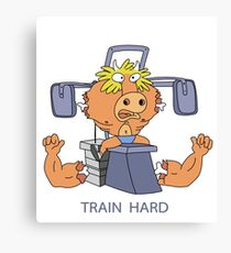 Train Hard or Die Canvas Print