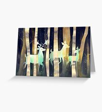 Ghost Deer Greeting Card