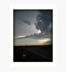 Tornado Watch, Wall Drug, SD Art Print