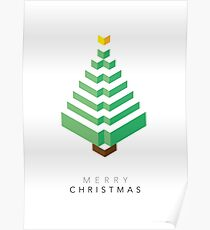 Minimalistic Christmas Tree (Card) Poster
