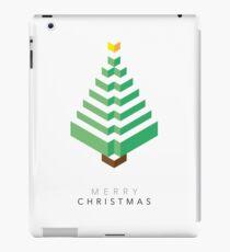 Minimalistic Christmas Tree (Card) iPad Case/Skin