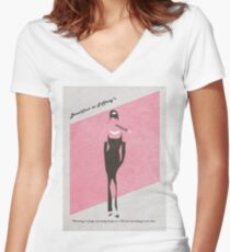 Breakfast at Tiffany's Women's Fitted V-Neck T-Shirt