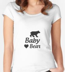 Baby Bear Women's Fitted Scoop T-Shirt