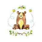 Big Bear Hugs is one of the Forest Friends nursery art set by Sandra O'Connor