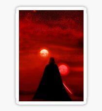 Star Wars Darth Vader Tatooine Sunset  Sticker