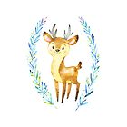 Dear Little Deer is one of the Forest Friends nursery art set by Sandra O'Connor