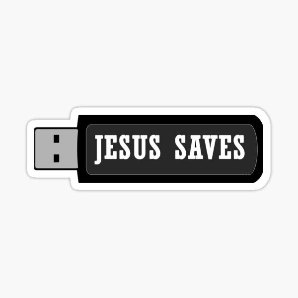 JESUS SAVES Sticker