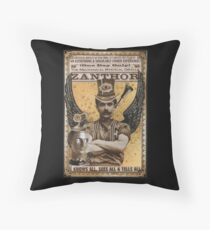 Steampunk Oracle - Zanthor Sees All Throw Pillow