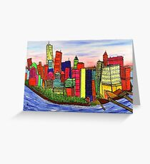 USA Manhattan. Greeting Card