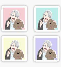 Viktor & Makkachin Pastel Sticker Pack- Yuri on Ice Sticker