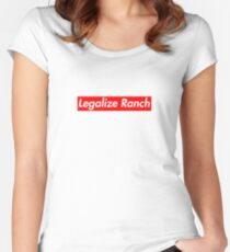 Legalize Ranch - Red Women's Fitted Scoop T-Shirt