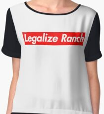 Legalize Ranch - Red Chiffon Top
