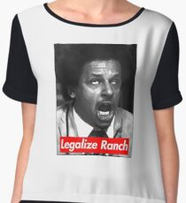 Eric Andre - Legalize Ranch - Red Chiffon Top