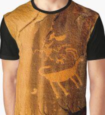 Big Horn Sheep Petroglyph - Nine Mile Canyon - Utah Graphic T-Shirt