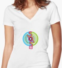 SOS Brigade The Meloncholy Of Haruhi Suzumiya Women's Fitted V-Neck T-Shirt