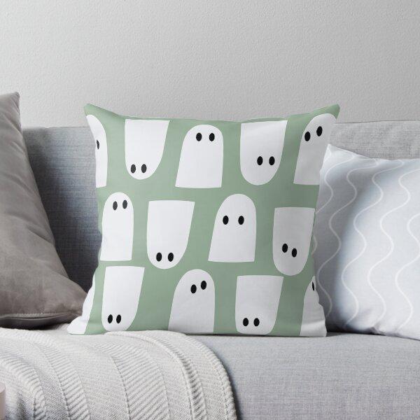 Spooky Ghost Patten Throw Pillow