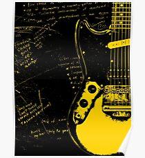 Mustang-Gitarre - Kurt Cobain Poster