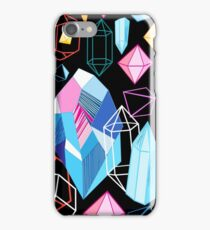 Bright pattern crystals iPhone Case/Skin