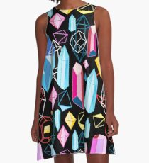 Bright pattern crystals A-Line Dress