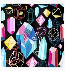 Bright pattern crystals Poster