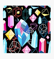 Bright pattern crystals Photographic Print