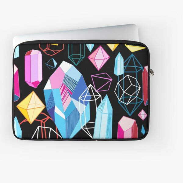 Bright pattern crystals Laptop Sleeve