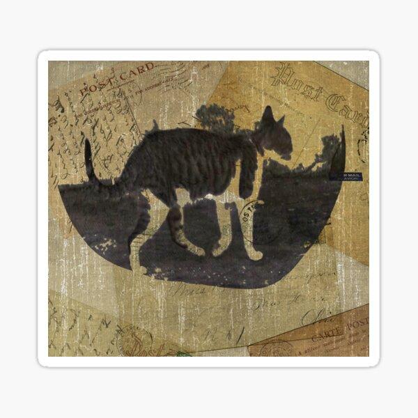 Cat Travels Sticker