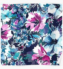 Abstracted Floral Poster