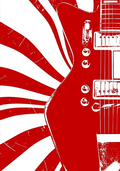 airline guitar jack white posters by guitars redbubble. Black Bedroom Furniture Sets. Home Design Ideas
