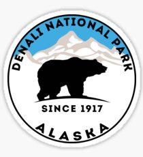 DENALI NATIONAL PARK ALASKA MOUNTAINS BEAR HIKE HIKING CAMP CAMPING  Sticker