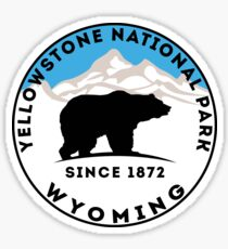 YELLOWSTONE NATIONAL PARK WYOMING BEAR 1872 HIKING CAMPING CLIMBING 2 Sticker