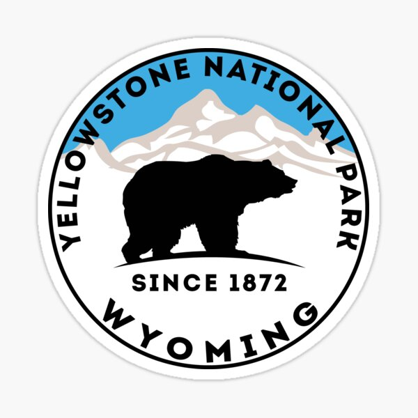 YELLOWSTONE NATIONAL PARK WYOMING BEAR 1872 HIKING CAMPING CLIMBING 2 Sticker