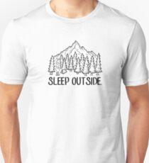Sleep Outside Mountain Campsite Unisex T-Shirt