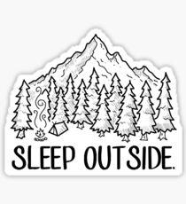 Sleep Outside Mountain Campsite Sticker