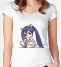 Chibi Wendy of Fairy tail Women's Fitted Scoop T-Shirt