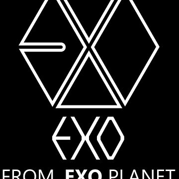 EXO - EXO FROM.EXO PLANET - White Outline by poppy-shop