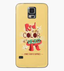 Funda/vinilo para Samsung Galaxy El rojo es el color de un héroe