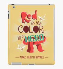 Rot ist die Farbe eines Helden iPad-Hülle & Klebefolie