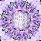 Flower Of Life Mandala - Violet Flame by Lilaviolet