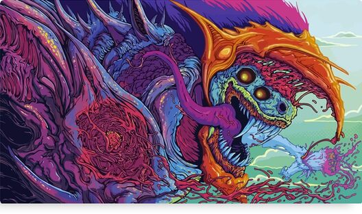 "Hyper Beast Fullprint Hoodie: ""CSGO Hyper Beast Skin"" Canvas Prints By MbongoxD"