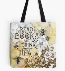 Bienen Tee und Bücher Tasche