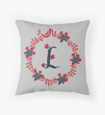 Scandinavian Monogram L Throw Pillow