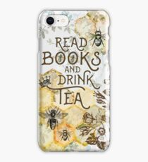 Bee Tea and Books  iPhone Case/Skin