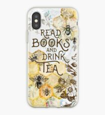 Bee Tea and Books  iPhone Case