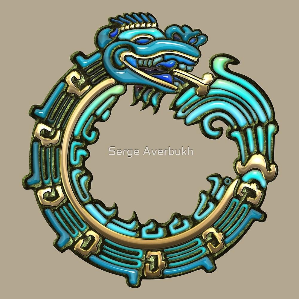 Quot Aztec Serpent Quetzalcoatl 3d Turquoise Quot By Serge
