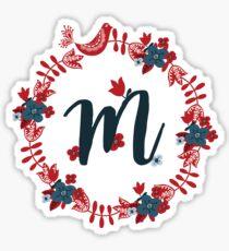 Scandinavian Monogram M Sticker